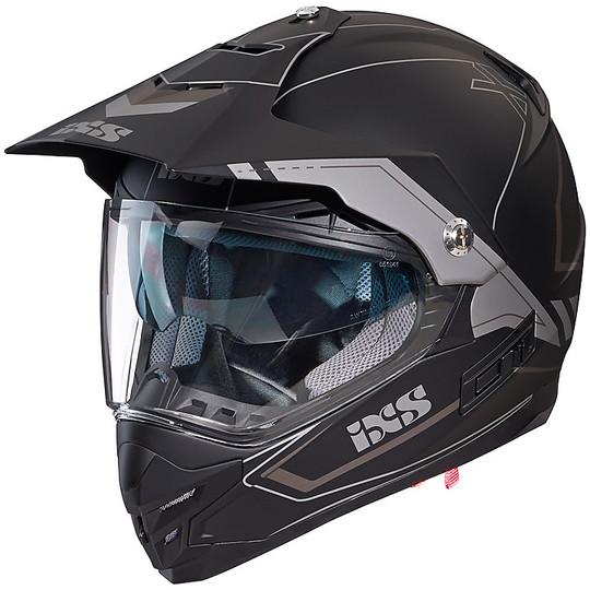 Casque Moto Cross Cross Country IXS 207 2.0 Noir Mat Gris