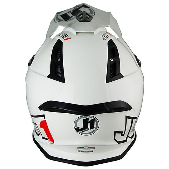 Casque Moto Cross en Fibre Just 1 J12 Solid White