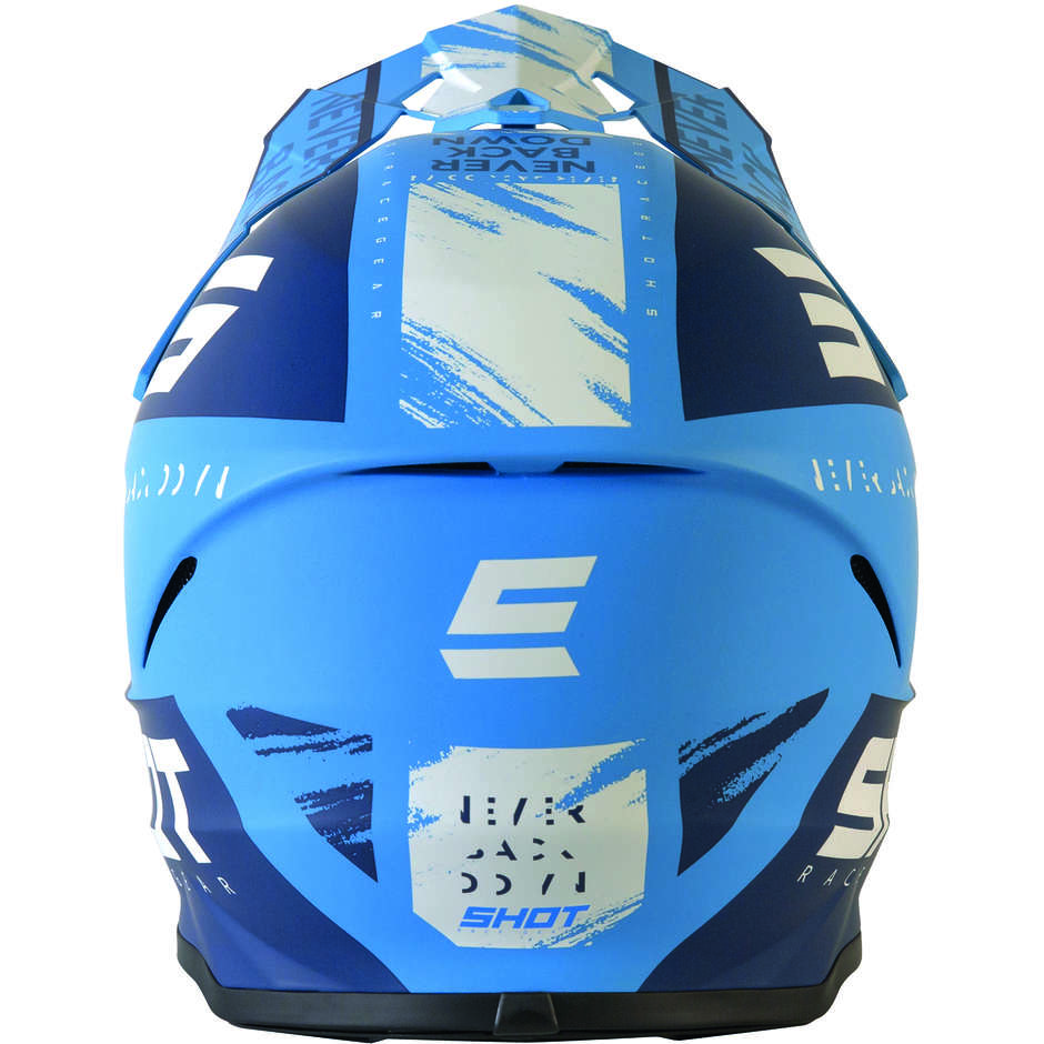 Casque Moto Cross Enduo Shot Furios DrawBlu Matt