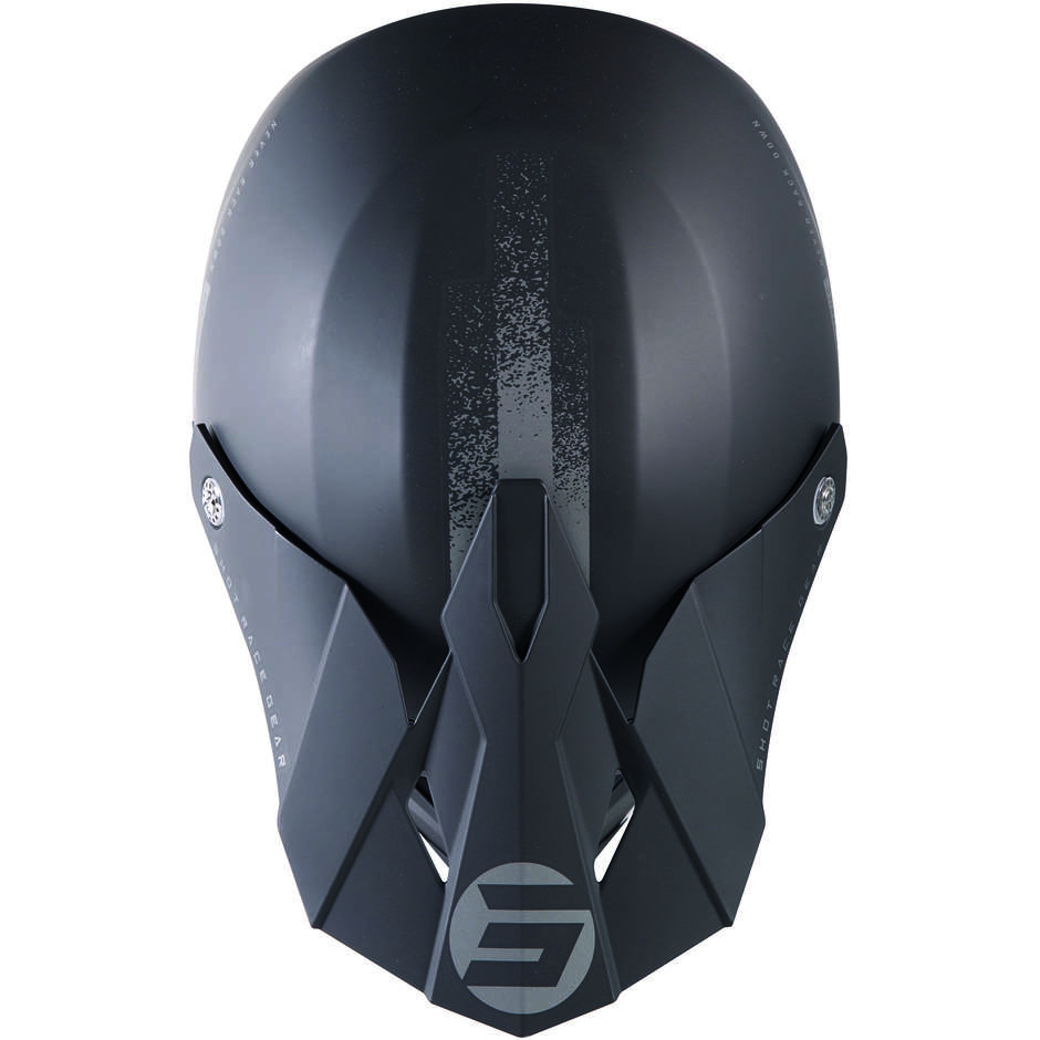 Casque Moto Cross Enduo Shot Furios Raw 2.0 Noir Mat Gris