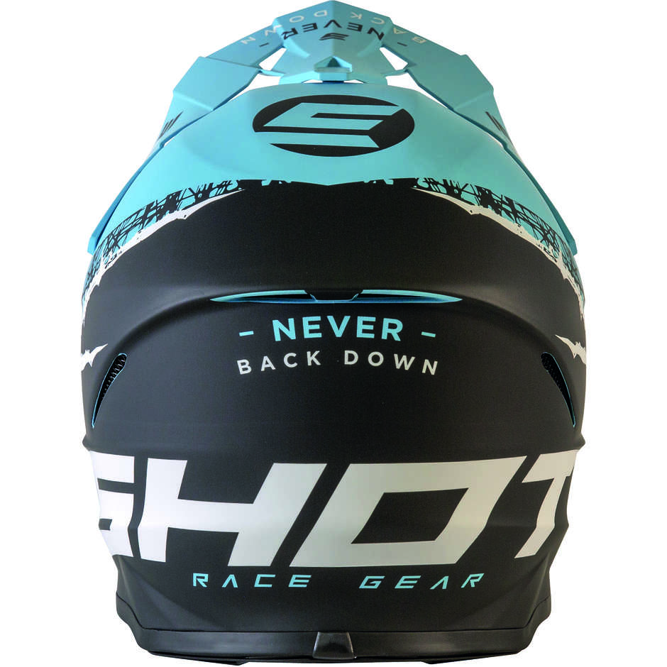 Casque Moto Cross Enduo Shot Furios Storm Noir Turquoise