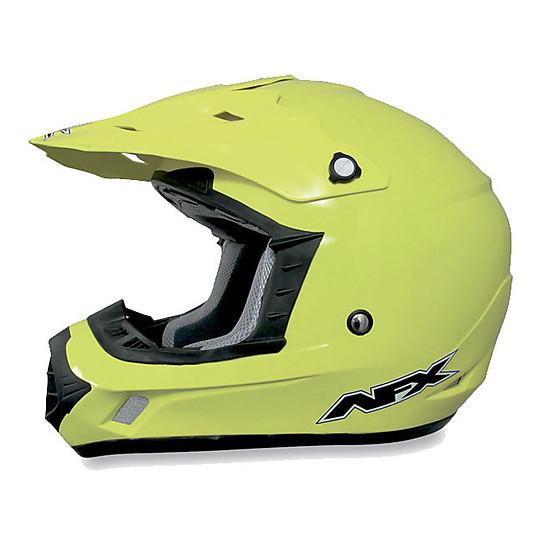 Casque Moto Cross Enduro Afx FX-17 Monocolor Yellow Fluo