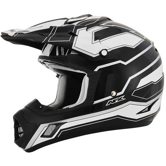 Casque Moto Cross Enduro Afx FX-17 Works White Gloss Black