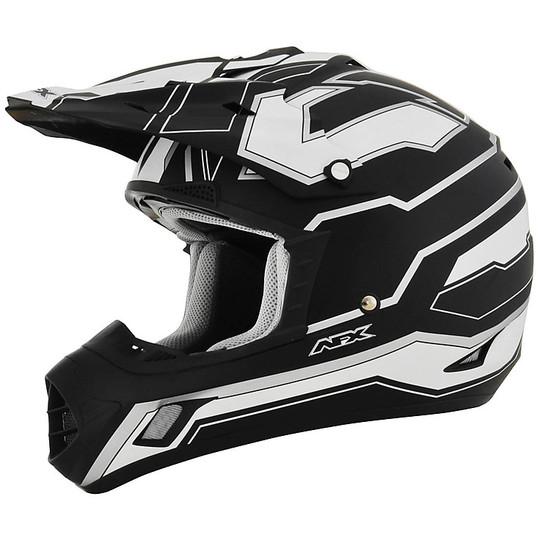 Casque Moto Cross Enduro Afx FX-17 Works White Matt Black