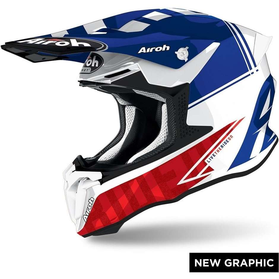 Casque Moto Cross Enduro Airoh TWIST 2.0 TECH Glossy Blue