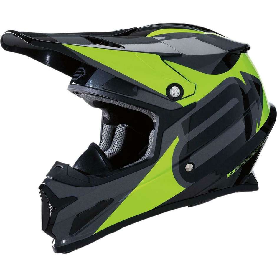 Casque Moto Cross Enduro ARCTIVA Summit Noir Jaune Fluo