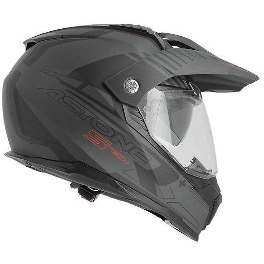 Casque Moto Cross Enduro Astone Crossmax S-Tech Matt Black