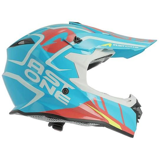 Casque Moto Cross Enduro Astone MX800 Trophy Bleu
