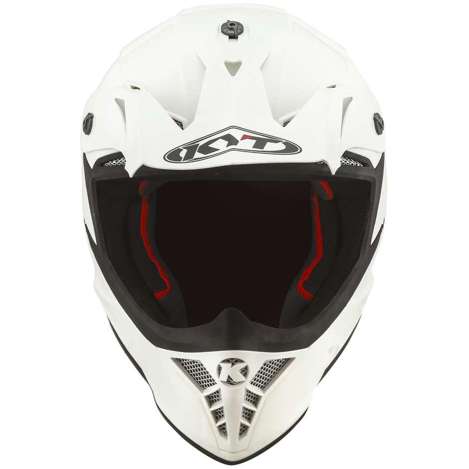 Casque Moto Cross Enduro En Fibre KYT SKYHAWK PLAIN Blanc