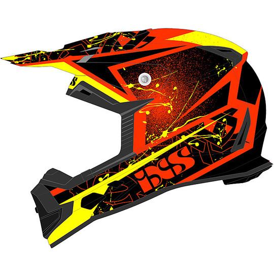 Casque Moto Cross Enduro IXS 361 2.0 Rouge Noir Jaune
