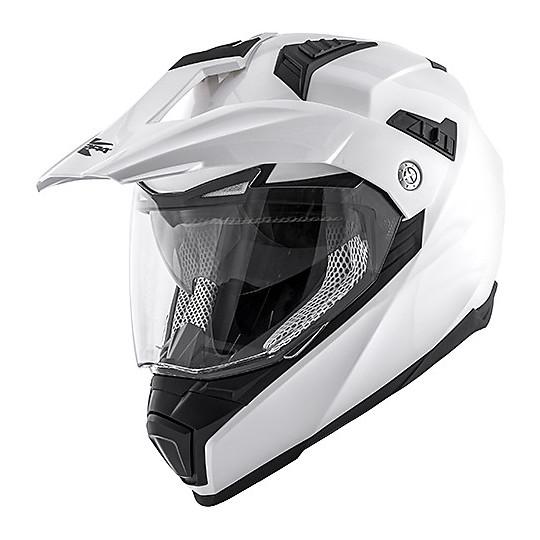 Casque Moto Cross Enduro Kappa KV-30 ENDURO Basic Glossy White