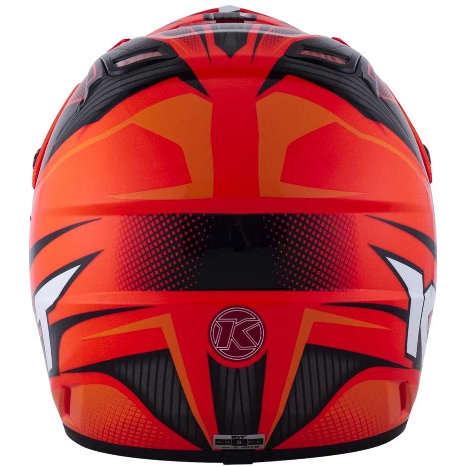 Casque Moto Cross Enduro KYT CROSS OVER POWER Noir Rouge