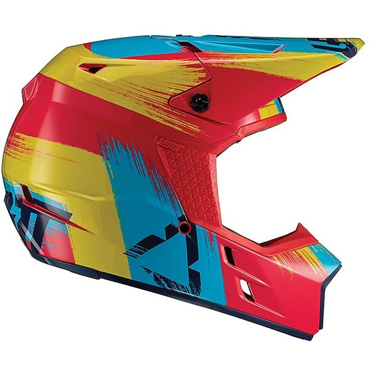Casque Moto Cross Enduro Leatt GPX 3.5 V19.2 Red Lime