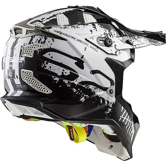 Casque Moto Cross Enduro LS2 MX 470 Subverter Intruder Black White