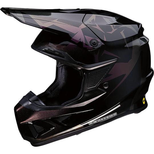 Casque Moto Cross Enduro Moose Racing FI Session Agroid Iridescent