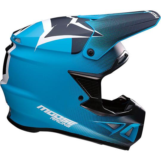 Casque Moto Cross Enduro Moose Racing FI Session Agroid Navy Blue