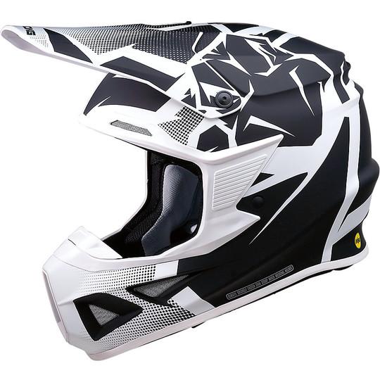 Casque Moto Cross Enduro Moose Racing FI Session Agroid White Black