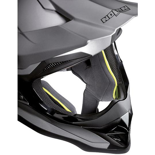 Casque Moto Cross Enduro Nolan N53 PORTLAND 064 Noir Mat Jaune