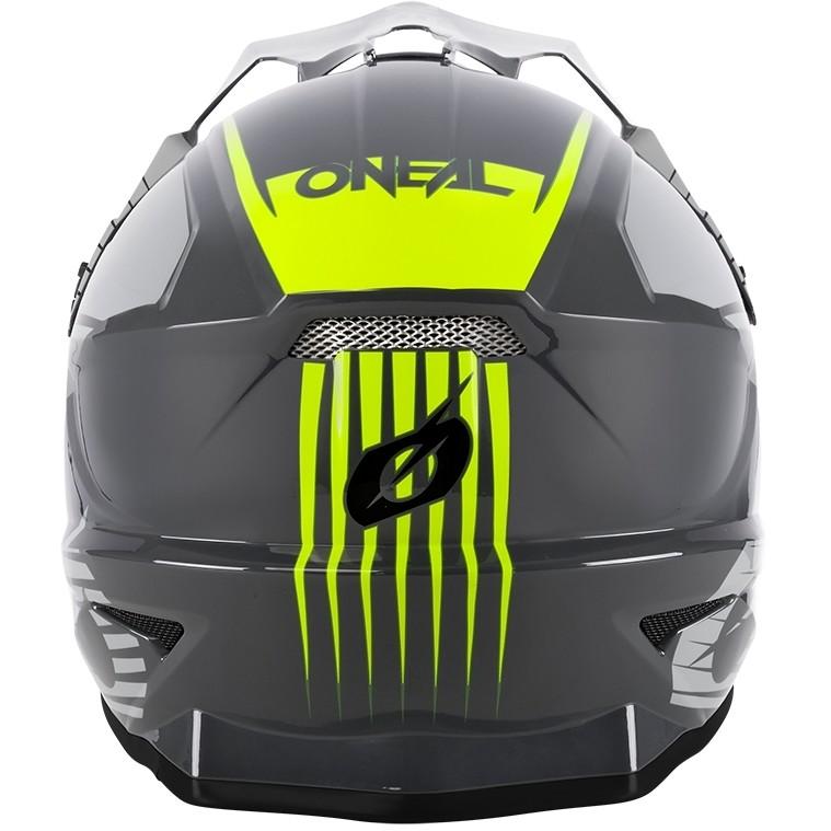 Casque Moto Cross Enduro Oneal 1Srs Helmettream Gris Jaune