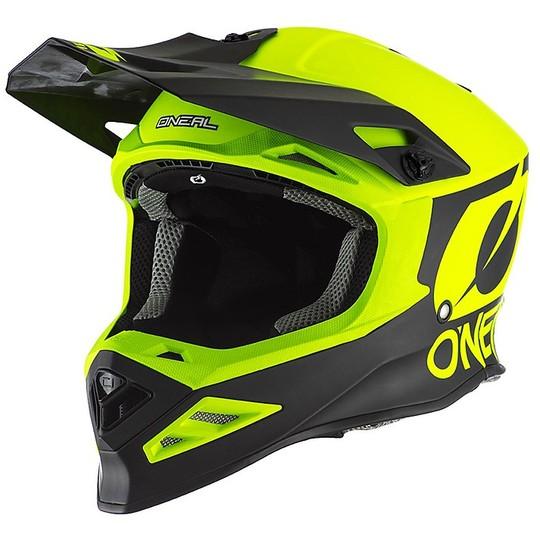 Casque Moto Cross Enduro O'neal 8 Series 2T Jaune Fluo