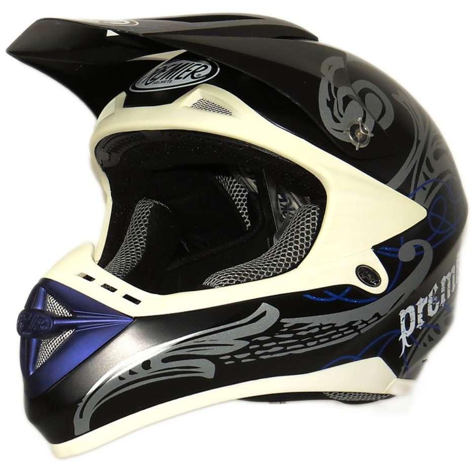 Casque Moto Cross Enduro Premier Ares PC 107N Blue BM