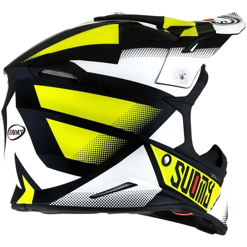 Casque Moto Cross Enduro Suomy X-WING GRIP Noir Jaune