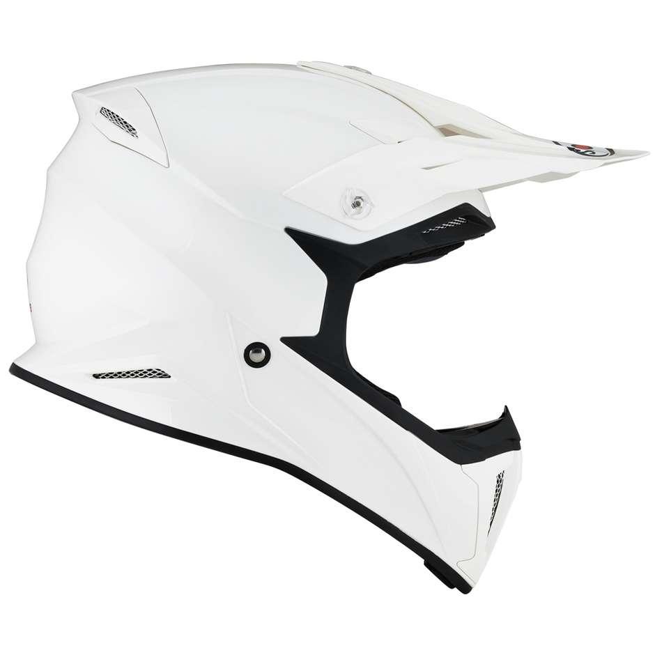 Casque Moto Cross Enduro Suomy X-WING PLAIN Blanc