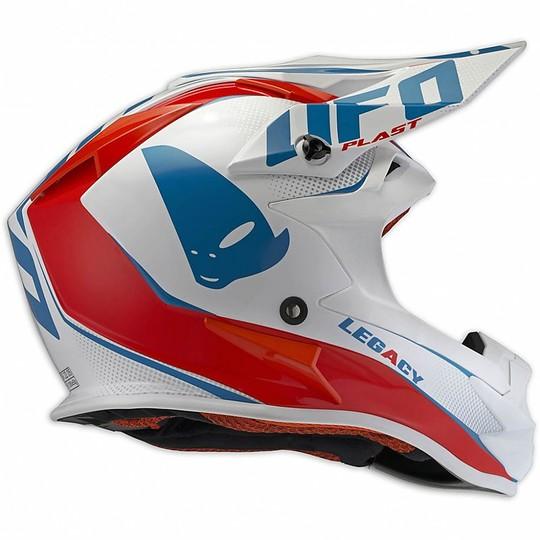 Casque Moto Cross Enduro Ufo Onyx Legacy Rouge Blanc