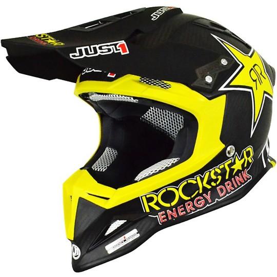 Casque Moto Cross Just 1 J12 Rockstar Energy Drink Matt