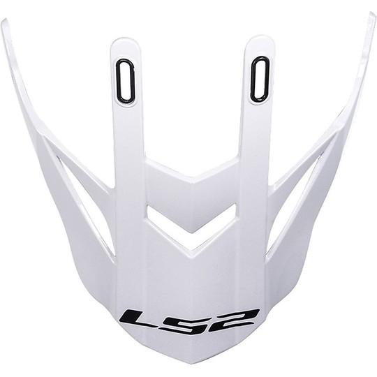 Casque Moto Cross Tesina Frontino Ls2 MX436 Pioneer Glossy White