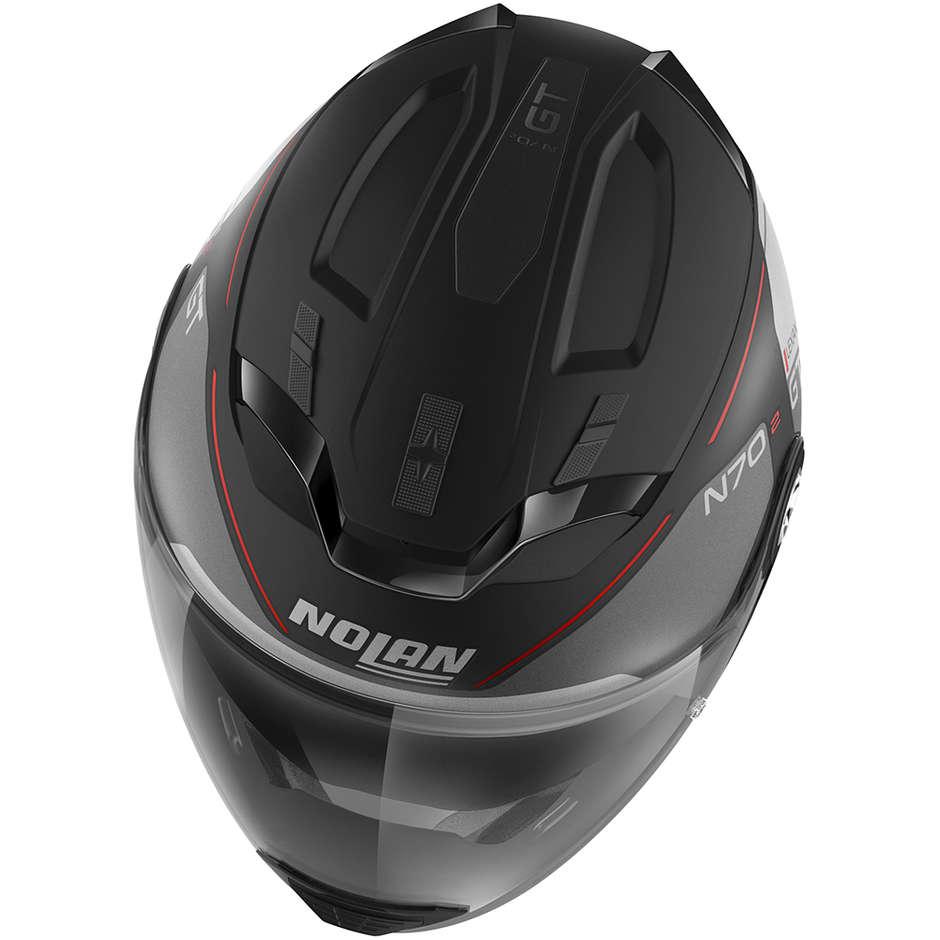 Casque Moto Crossover Nolan N70.2 GT LAKOTA N-Com 035 Matt Black Red