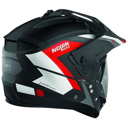 Casque moto Crossover ON-OFF NOlan N70.2x Grandes Alpes N-Com 020 Matt Black Red