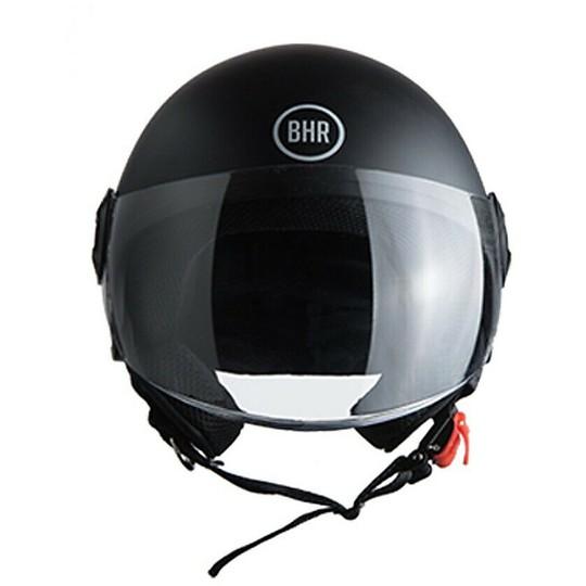 Casque moto Demi-Jet BHR 808 FIRST Noir métallisé