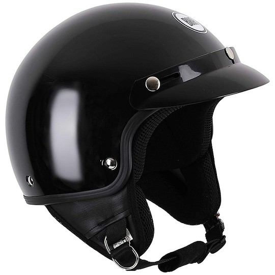 Casque moto Demi-Jet Custom BHR 803 SIMPLY Metallic Black