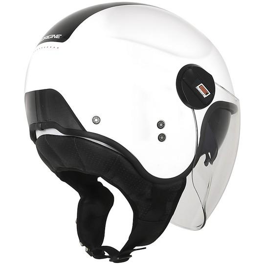 Casque Moto Demi-Jet Double Visor Origin ALPHA NEXT Noir Rouge Blanc
