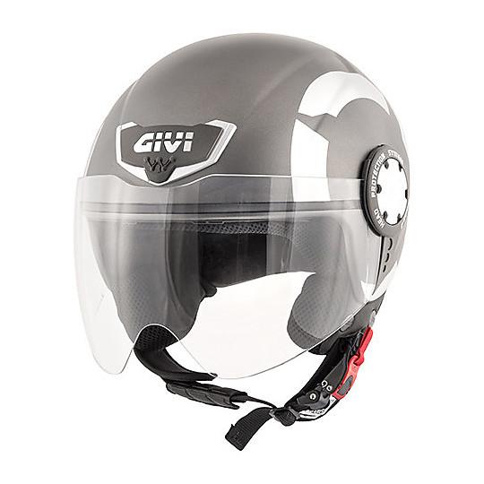 Casque moto Demi-Jet Givi 10.4 Stark Matt Titanium