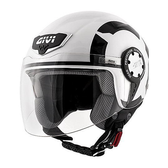 Casque moto Demi-Jet Givi 10.4 Stark White Black