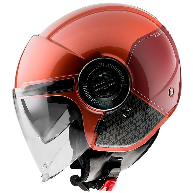 Casque moto Demi-Jet Mt Casque VIALE Sv BREAK A7 Glossy Red