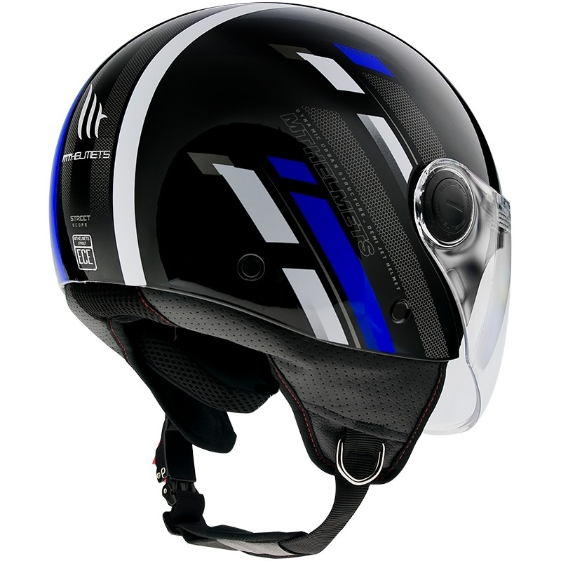 Casque moto Demi-Jet Mt Helmet Street SCOPE D7 Glossy Blue