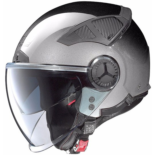Casque moto Demi Jet Nolan N33 Evo Classic 006 Chrome rayé