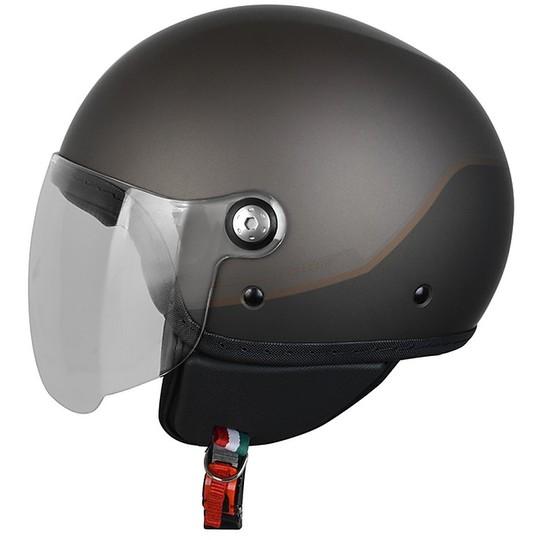 Casque moto Demi-Jet Origin Mio Twin Matt Brown