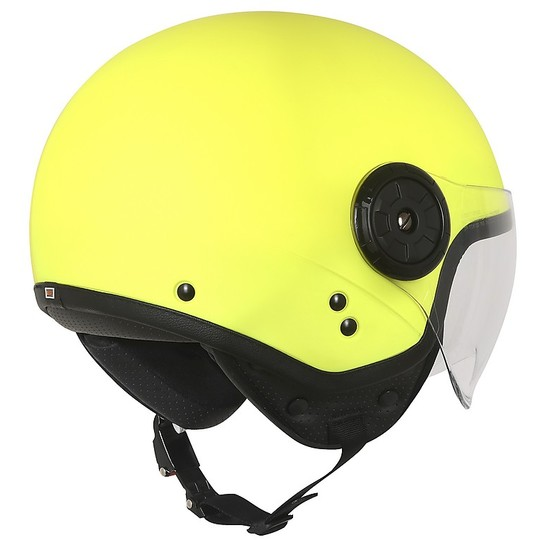 Casque moto Demi-Jet Origin NEON EASY Jaune Fluo Matt