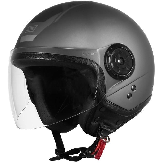 Casque Moto Demi-Jet Origin NEON SCOOP Matt Titanium Black
