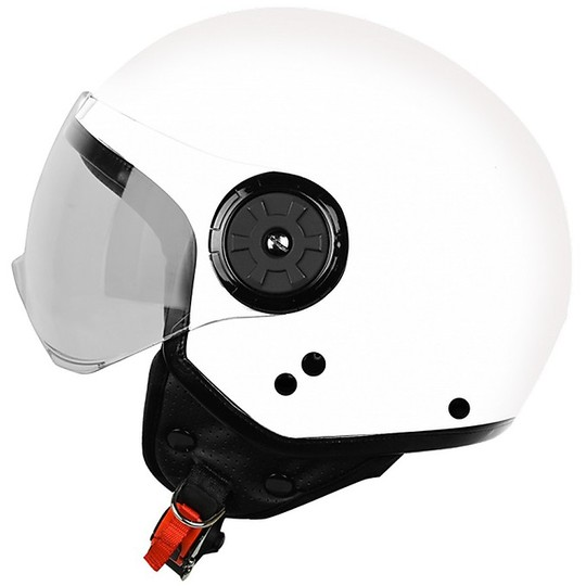 Casque moto Demi-Jet Origin Neon Solid White