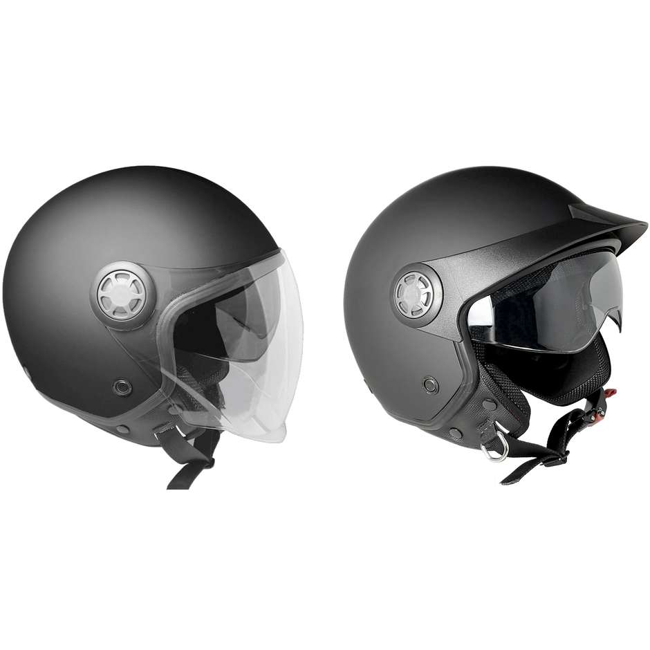 Casque moto Demi-Jet Ska-P 1SH ZED Mono Glossy Grey