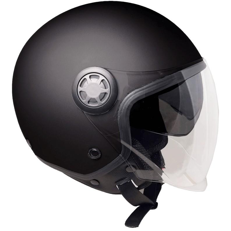 Casque moto Demi-Jet Ska-P 1SH ZED Mono Matt Black