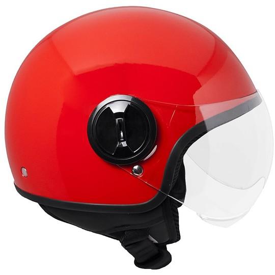 Casque moto Demi-Jet Ska-P 1WH WOLLI Red Metal