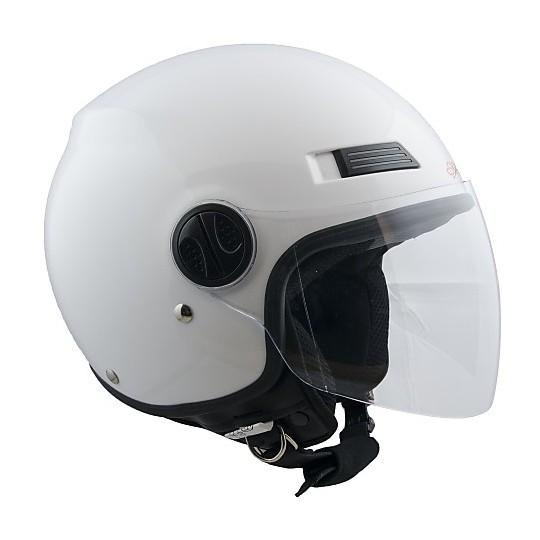 Casque moto Demi Jet Ska-P Urban Glossy White