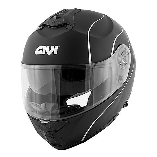 Casque moto double modulaire Homologation Givi X.21 Challenger Matt noir