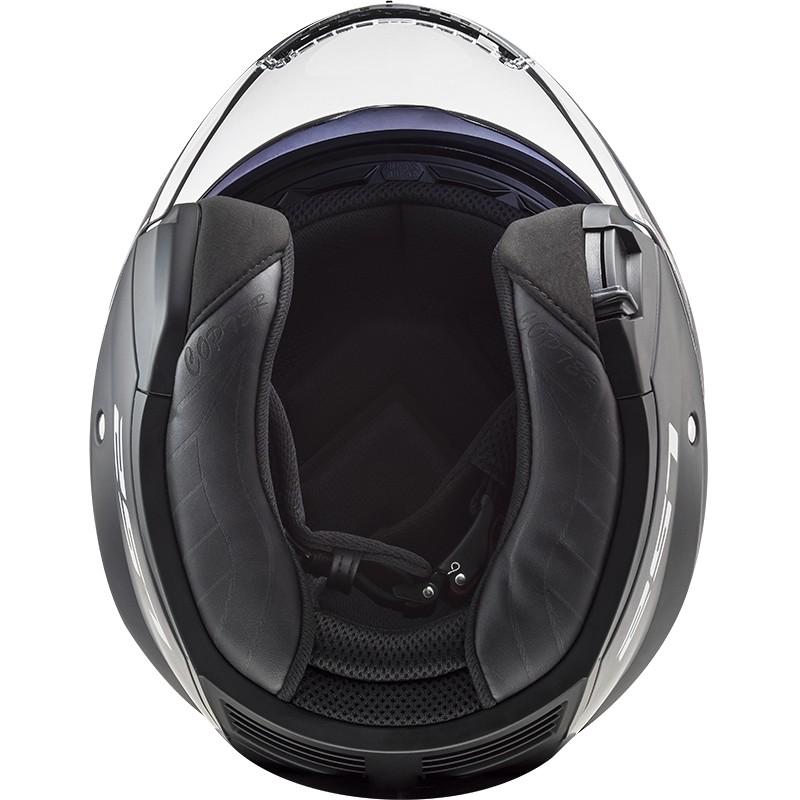Casque Moto Double Visière Jet Ls2 OF600 Copter Solid Matt Black